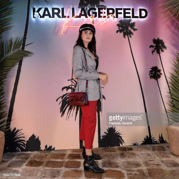 Doina Ciobanu attends the launch of the Karl x Kaia collaboration capsule collection on October 2 2018 in Paris France