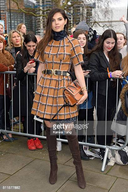 Doina Ciobanu attends the Topshop Unique show during London Fashion Week Autumn/Winter 2016/17 at Tate Britain on February 21 2016 in London England