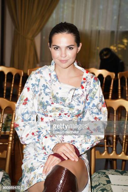 Doina Ciobanu attends the Ulyana Sergeenko Haute Couture Fall Winter 2018/2019 show as part of Paris Fashion Week on July 3 2018 in Paris France