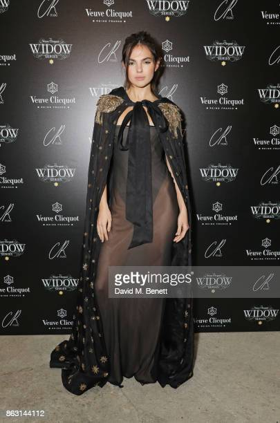 Doina Ciobanu attends The Veuve Clicquot Widow Series By Carine Roitfeld And CR Studio on October 19 2017 in London England