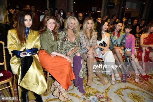 Doina Ciobanu Caroline Tillette Pamela Anderson Rita Ora Angel Wang Louise Wong and Mademoiselle Yulia attend the Vivienne Westwood show as part of...