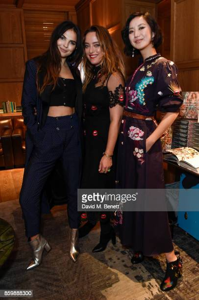 Doina Ciobanu Designer Alice Temperley Betty Bachz attend the launch of the book 'Alice Temperley English Myths and Legends' at The London Edition...