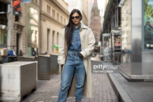 Doina Ciobanu is seen on the street during New York Fashion Week AW19 wearing Michael Kors on February 13 2019 in New York City