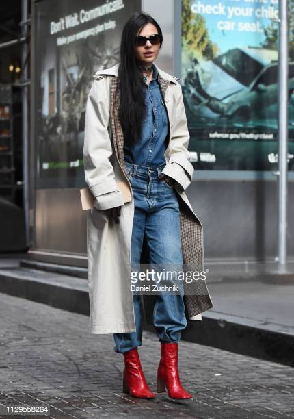 Doina Ciobanu is seen outside the Michael Kors show during New York Fashion Week Fall/Winter 2019 on February 13 2019 in New York City
