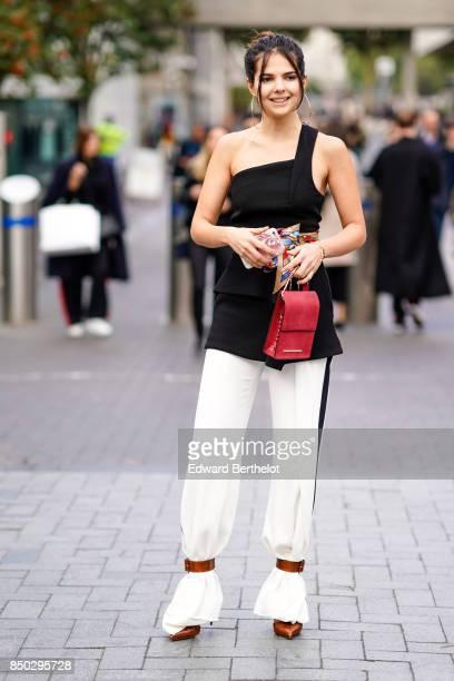 Doina Ciobanu outside Roland Mouret during London Fashion Week September 2017 on September 17 2017 in London England