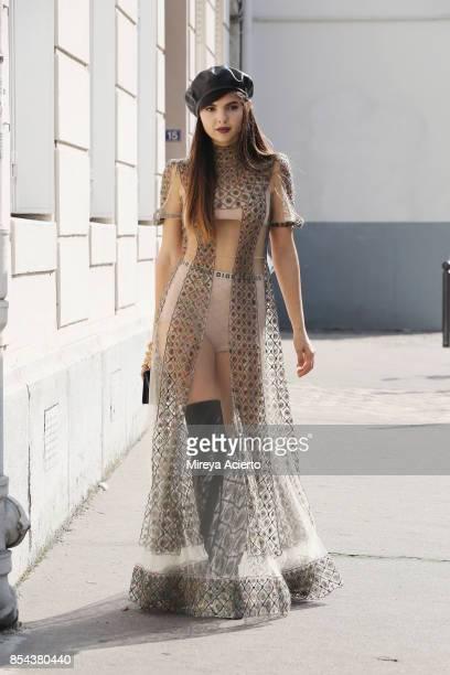 Doina Ciobanu seen during Paris Fashion Week Womenswear Spring/Summer 2018 on September 26 2017 in Paris France