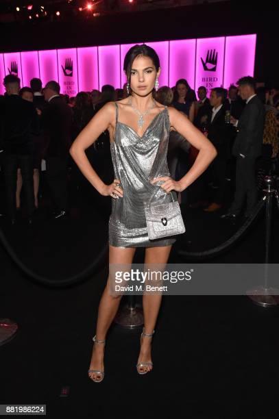 Doina Ciobanu wearing Bulgari attends CLUB LOVE for the Elton John AIDS Foundation in association with BVLGARI on November 29 2017 in London England