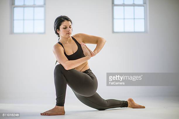 Doing a Deep Yoga Twist