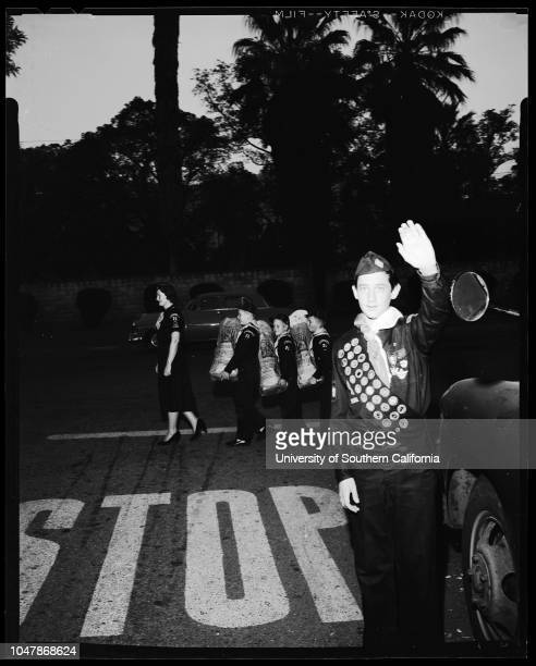 Doing a good turn Boy Scouts Cubs and Explorers 25 November 1956 Don MartinelliGary StrohbehnDoug BruceScoutmaster Joe MartinelliDen Mother Mrs...
