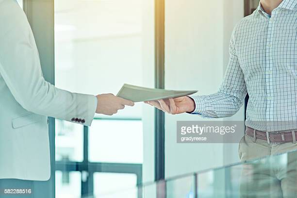 doing a handover - giving stock photos and pictures