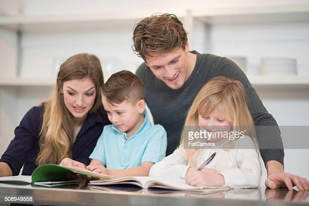Faire affectations Homeschooling en famille