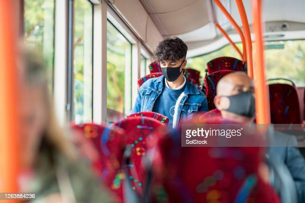 doing homework on the way to school - public transport stock pictures, royalty-free photos & images