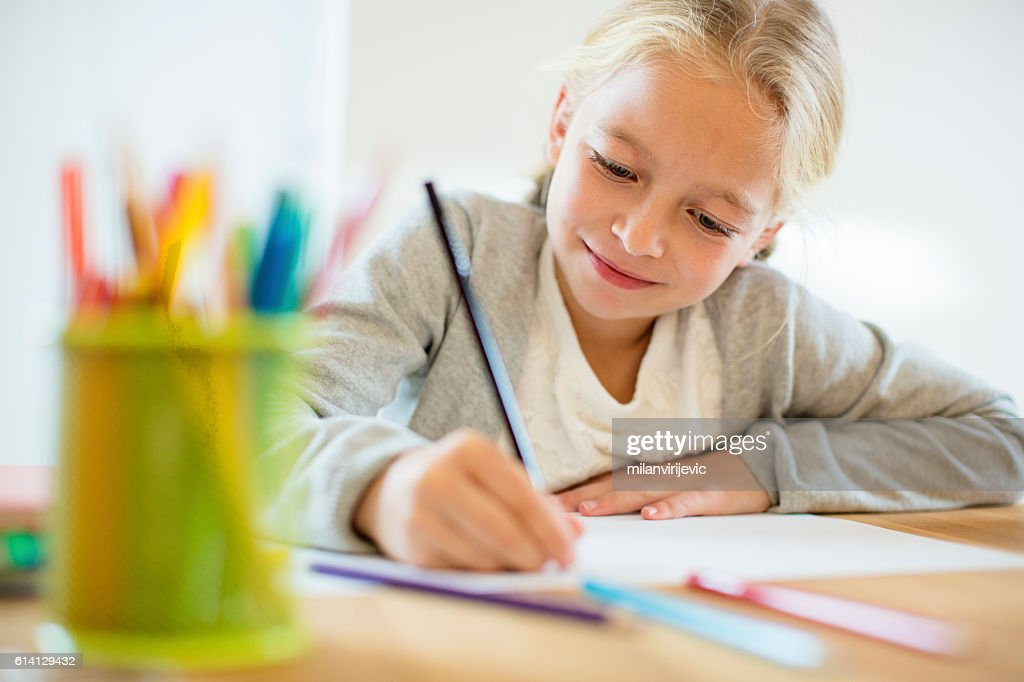 Doing homework : Stock Photo