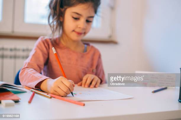 doing homework - homeschool stock photos and pictures