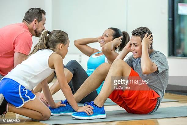 Doing Sit-Ups Together