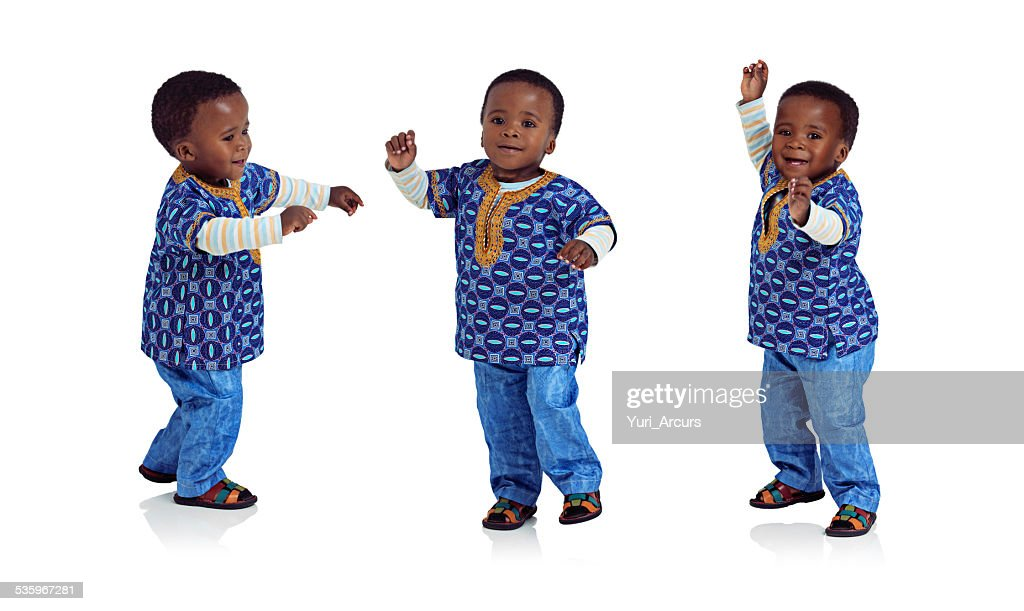 Doing the baby boogy : Stock Photo