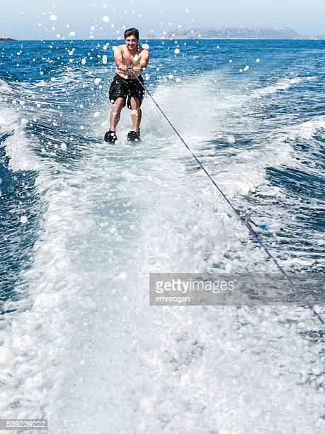 Doing watersport,