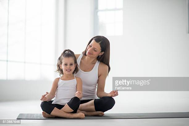 Doing Yoga Together on Mother's Day