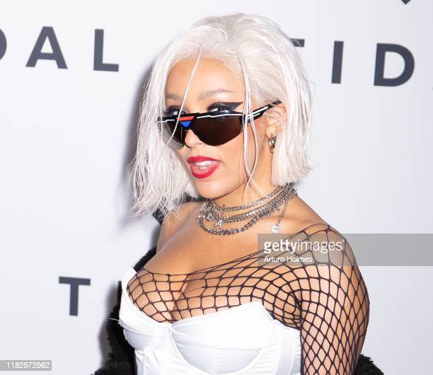 Doja Cat attends Tidal X The Rock the Vote Benefit Concert at Barclays Center on October 21 2019 in Brooklyn New York