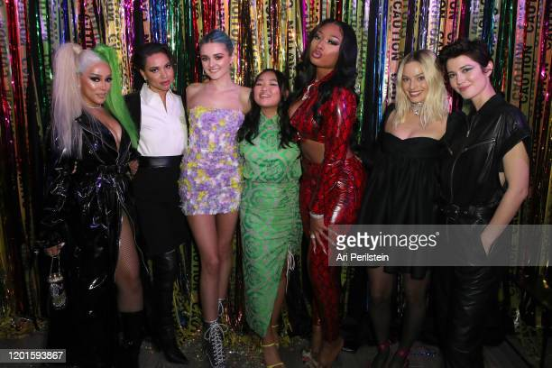 Doja Cat Jurnee SmollettBell Charlotte Lawrence Ella Jay Basco Megan Thee Stallion Margot Robbie and Mary Elizabeth Winstead attend Birds Of Prey A...