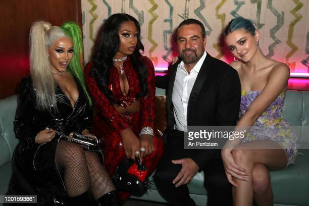Doja Cat Megan Thee Stallion Kevin Weaver and Charlotte Lawrence attend Birds Of Prey A Night Of Music And Mayhem In HARLEYWOODat DREAM Hollywood on...