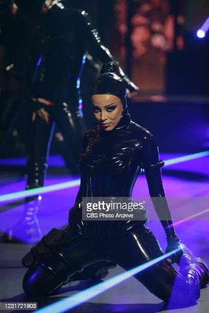 Doja Cat performing at THE 63rd ANNUAL GRAMMY® AWARDS, broadcast live from the STAPLES Center in Los Angeles, Sunday, March 14, 2021 on the CBS...