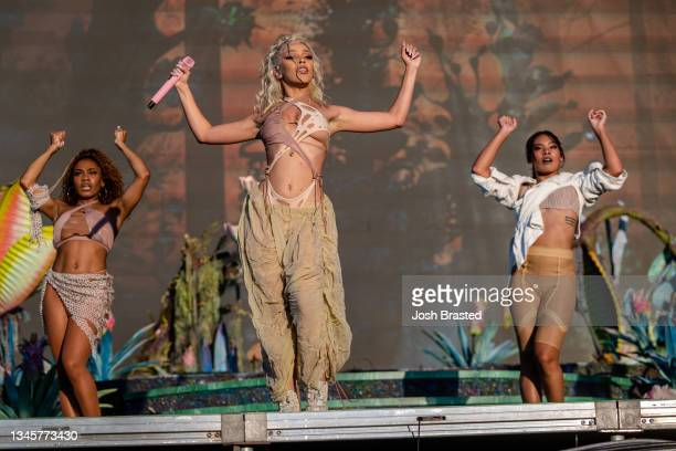 Doja Cat performs at ACL Music Festival at Zilker Park on October 09, 2021 in Austin, Texas.