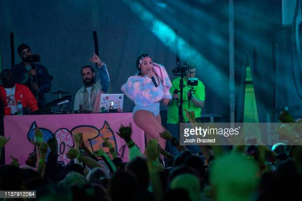 Doja Cat performs at the Buku Music Art Project at Mardi Gras World on March 23 2019 in New Orleans Louisiana