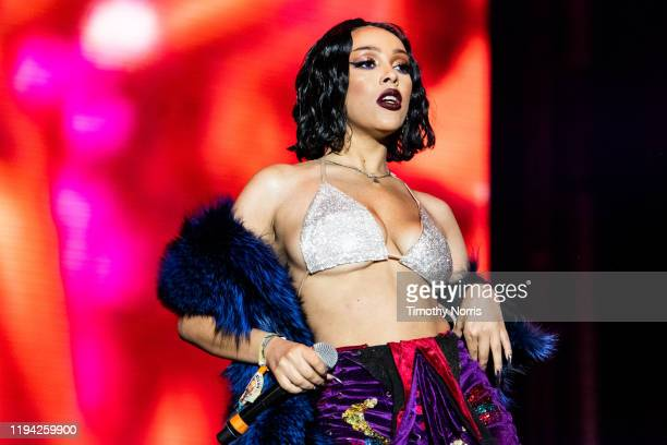 Doja Cat performs during 2019 Rolling Loud LA at Banc of California Stadium on December 15 2019 in Los Angeles California