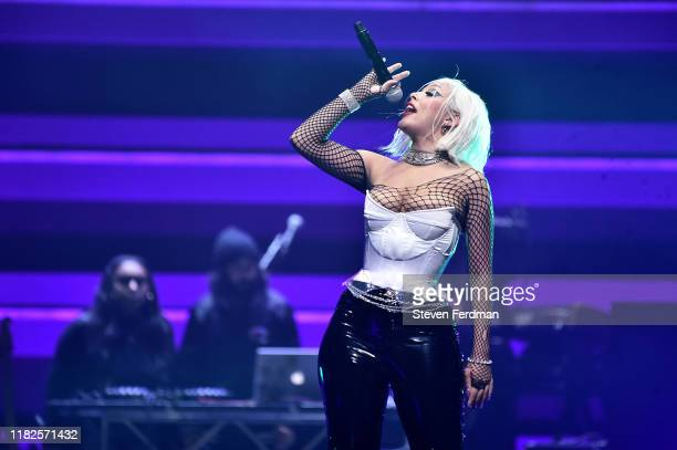 Doja Cat performs during the TIDAL's 5th Annual TIDAL X Benefit Concert TIDAL X Rock The Vote At Barclays Center Show at Barclays Center of Brooklyn...