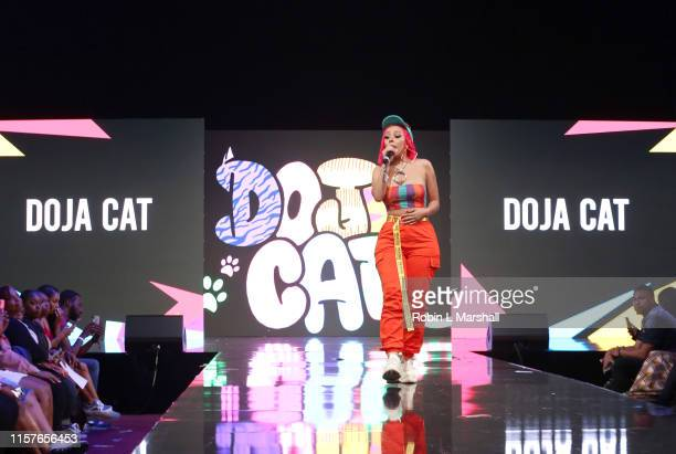 Doja Cat performs onstage at BET Her Presents Fashion Beauty during the BET Experience at Los Angeles Convention Center on June 22 2019 in Los...