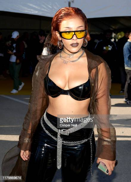Doja Cat poses for a photo during Posty Fest at ATT Stadium on November 02 2019 in Arlington Texas
