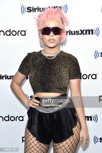 Doja Cat visits SiriusXM Studios on November 08 2019 in New York City