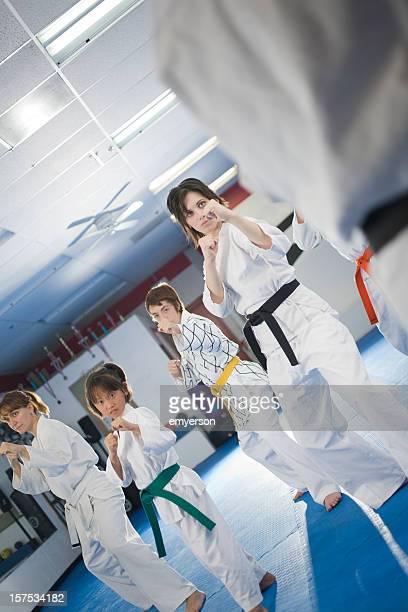dojo - taekwondo stock photos and pictures