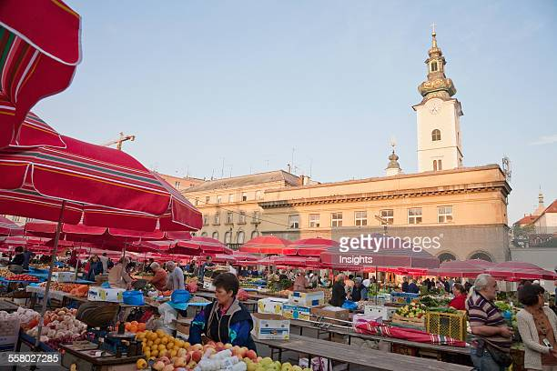 Dolac Fruit And Vegetable Market Zagreb Grad Zagreb Croatia