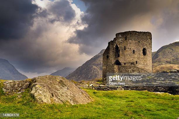 dolbadarn castle - mount snowdon stock photos and pictures