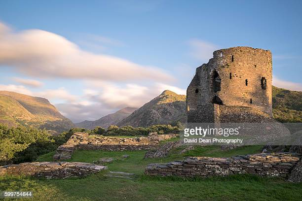 dolbadarn castle - snowdonia stock photos and pictures