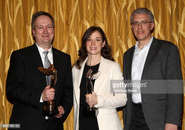 Dolby Content Solutions Senior Manager Tom Graham Dolby Chief Scientist Dr Poppy Crum and Dolby Worldwide Content Relations VP Ron Geller attend the...