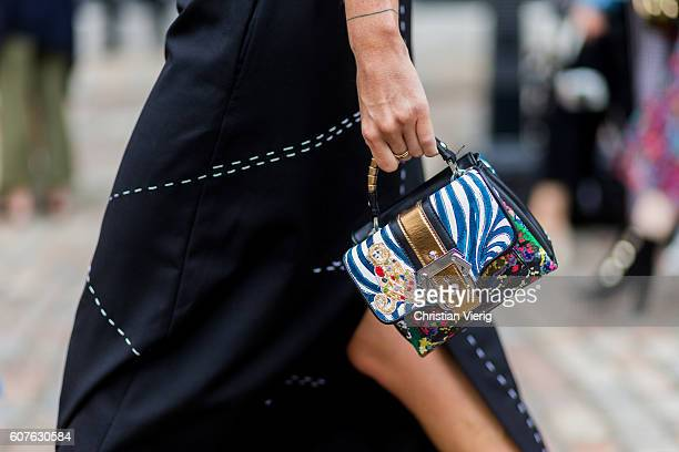 Dolce Gabbana bag outside Preen during London Fashion Week Spring/Summer collections 2017 on September 18 2016 in London United Kingdom