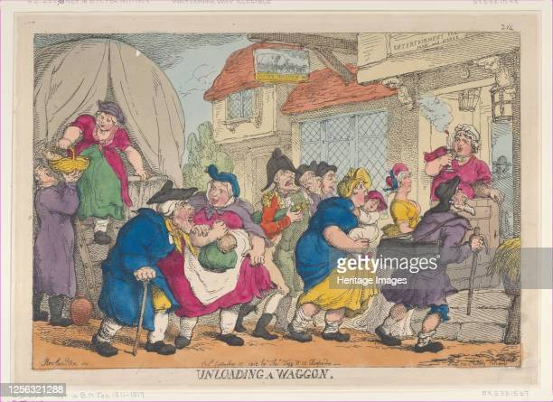 Doleful Disaster, or Miss Fubby Fatarmin's Wig Caught Fire, September 12, 1813. Artist Thomas Rowlandson.