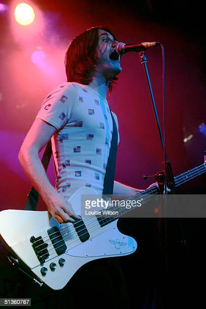 Dolf De Datsun of The Datsuns performs on stage at The Mean Fiddler on September 26 2004 in London