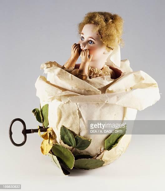 Doll blowing a kiss music box second position France late 19th century Milan Museo Del Giocattolo E Del Bambino