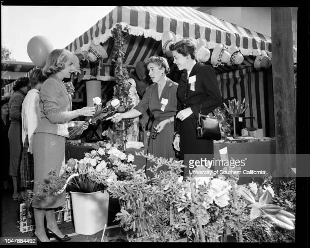 Doll fair Marlborough School 9 November 1957 Mrs Lloyd Wright JuniorLloyd Wright the ThirdMarily Wright 9Julie Wright 11Mrs Lloyd AustinBetty Ruth...
