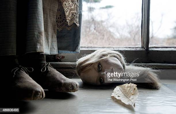A doll head on a window sill in the studio of late artist Andrew Wyeth on April 7 in Chadds Ford PA Wyeth was known as a prankster he loved Halloween...