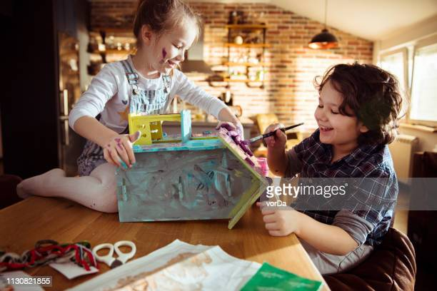 doll house - children only stock pictures, royalty-free photos & images