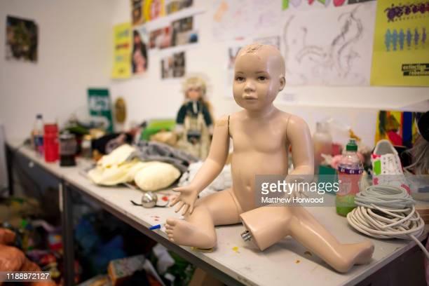 A doll in an art studio on November 19 2019 in Cardiff United Kingdom