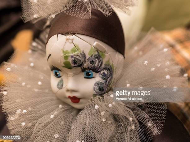 Doll in need of repair seen at 'Hospital de Bonecas' on January 18 2018 in Lisbon Portugal Started in 1830 by Dona Carlota an old lady making rag...