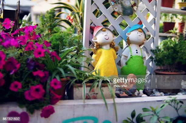 Doll in the garden