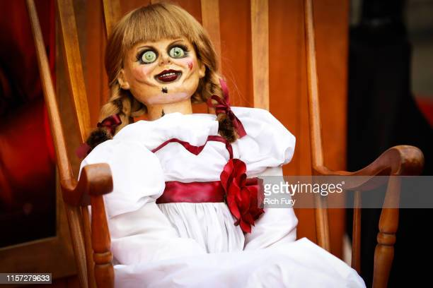 A doll is seen at the premiere of Warner Bros' Annabelle Comes Home at Regency Village Theatre on June 20 2019 in Westwood California