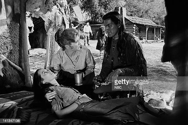 BOONE 'Doll of Sorrow' Episode 28 Aired 4/22/1964 Pictured Adrienne Hayes as Rising Star Patricia Blair as Rebecca Boone Eddie Little Sky as Grey...